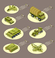 isometric armor weapon infographic vector image