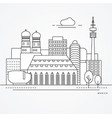 linear munich germany flat one line style trendy vector image vector image