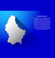 luxembourg map of australia with long gradient vector image