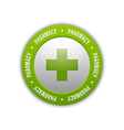 Medical cross pharmacy symbol vector image