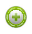 Medical cross pharmacy symbol vector image