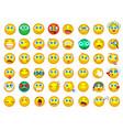 mega big collection set emoji face emotion vector image vector image
