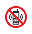 not allowed phone sign vector image vector image