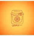 Orange jam doodle on color background vector image
