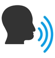 Person Speech Waves Flat Icon vector image