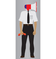 Person with the megaphone Support service icon vector image