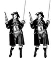 pirate girl captain vector image vector image