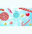 realistic sweet products template vector image