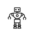 robot innovation technology character artificial vector image