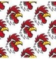 Rooster head seamless background pattern vector image