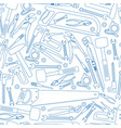seamless pattern of repair tools icons vector image vector image