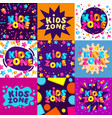 set bright banners and templates for kids zone vector image vector image