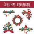 set christmas decoration design elements vector image vector image