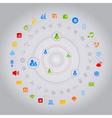 social media computer icons vector image vector image