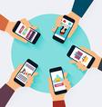 social network concept set social media icons vector image vector image