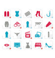 stylized sex erotic and temptation icons vector image