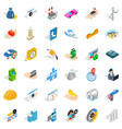 trouble icons set isometric style vector image vector image