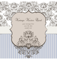 Vintage Card Damask Baroque ornament vector image vector image