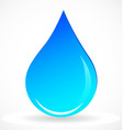 water rain drop icon vector image vector image