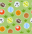 sport balls isolated collection seamless vector image