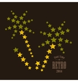 Abstract palms made of stars vector image