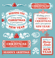 Christmas retro banner label collection vector image