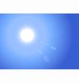 Sunburst on Blue Sky Background vector image