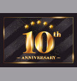 10 years anniversary celebration logo 10th vector image