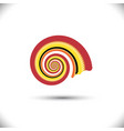 abstract spiral or swirl vector image vector image