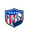 American Soldier Bugler Reveille USA Flag Crest vector image vector image