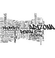 arizona the host of great events text word cloud vector image vector image