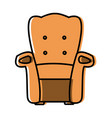 armchair furniture isolated vector image