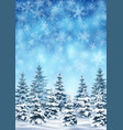 background with blizzard and forest vector image vector image