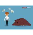 bear treading on stock market vector image