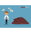 bear treading on the stock market vector image vector image