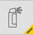 black line pepper spray icon isolated on vector image vector image