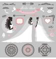 Bride setWedding bridal shower decor vector image vector image