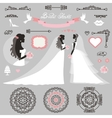 Bride setWedding bridal shower decor vector image