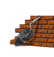 building brick wall vector image