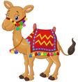 Cartoon decorated camel vector image vector image