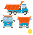 cartoon transport dump truck vector image vector image
