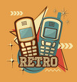 cellphones technology retro vintage design vector image vector image