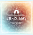 christmas and new year retro typography label vector image vector image