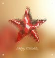 Christmas background with stylized embellishment vector image vector image