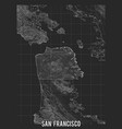 city map san francisco elevation map of vector image