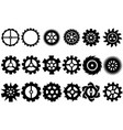 cogwheel machine gear set of gear wheels vector image