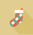 colorful sock icon for christmas holiday vector image vector image