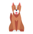 cute dog seating cartoon flat icon vector image vector image