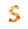 delicious letter made from different nuts s vector image