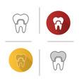 dental crown icon vector image vector image